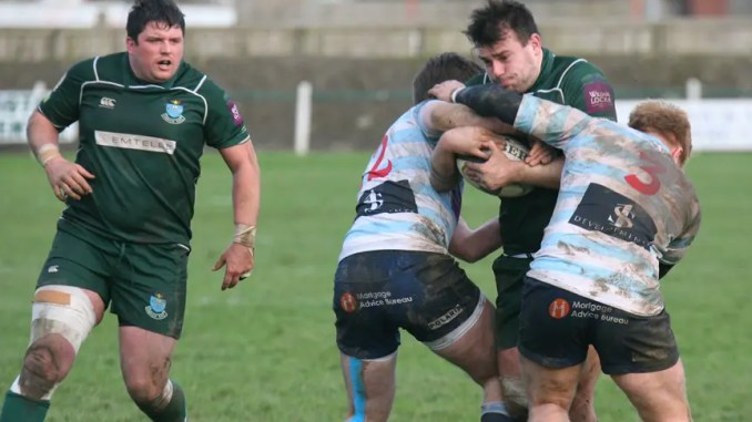Edinburgh Accies tae on Hawick in a re-arranged match in South Queensferry on Saturday afternoon. Image: Kenny Baillie