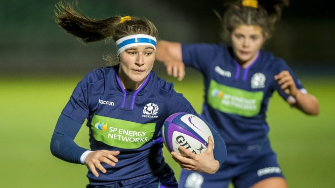 Helen Nelson (foreground) and Lisa Thomson (background) are both in the Team GB 7s Women extended training squad. Image: © Craig Watson - www.craigwatson.co.uk