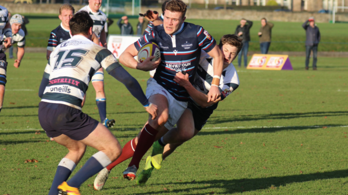 Watsonians came out on top when they played Heriot's at Goldenacre back in November. Image: Graham Gaw