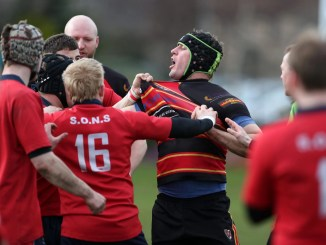 Stewart's Melville No 8 Scott Alldritt had helped his team into pole position in the race for promotion from National Two, but the Inverleith men will have to wait another year at least to climb the leagues. Image: FOTOSPORT/DAVID GIBSON
