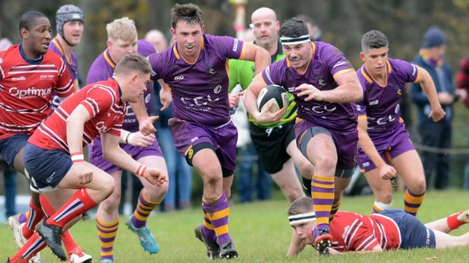 Mackenzie Pearce (with ball) and Benedict Grant (in support) are two of four players in The Offside Line's Premiership Dream for season 2019-20. Image: Kenneth Ferguson