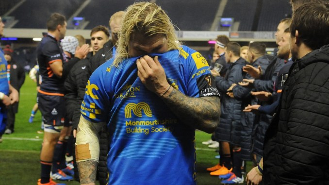 Richard Hibbard and his- Dragons team-mates face an uncertain future as the WRU try to come to terms with the financial impact of the Covid-19 crisis. Image: Fotosport/David Gibson