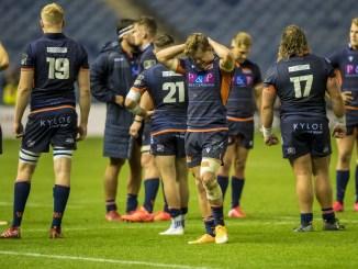 Darcy Graham shows what he felt about Edinburgh's loss last night. Image: © Craig Watson - www.craigwatson.co.uk