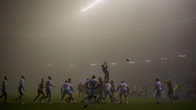 Edinburgh played Cardiff Blues in a fog at Murrayfield earlier in the month. Image: © Craig Watson - www.craigwatson.co.uk