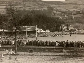 """This snap of The Greenyards on 7s day is one of nearly 300 brilliant Scottish Rugby photos in Steve Finan's 'Dark Blue Blood - Scottish Rugby in the Black and White Era"""""""