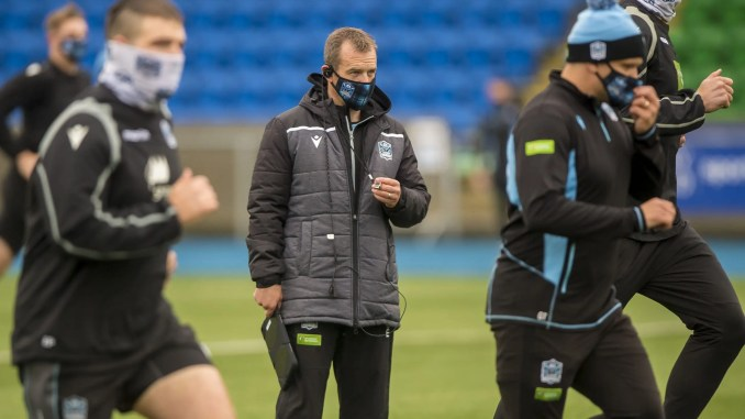 Danny Wilson puts the Glasgow Warriors squad through their paces. Image: © Craig Watson - www.craigwatson.co.uk