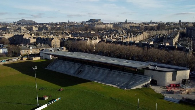 Raeburn Place - the venue of 'The Great Game' - is going through a major redevelopment which includes the creation of a Museum of International Rugby