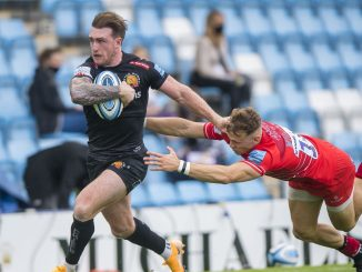 Stuart Hogg in action for Exeter Chiefs against Leicester Tigers last year. Image: © Craig Watson - www.craigwatson.co.uk