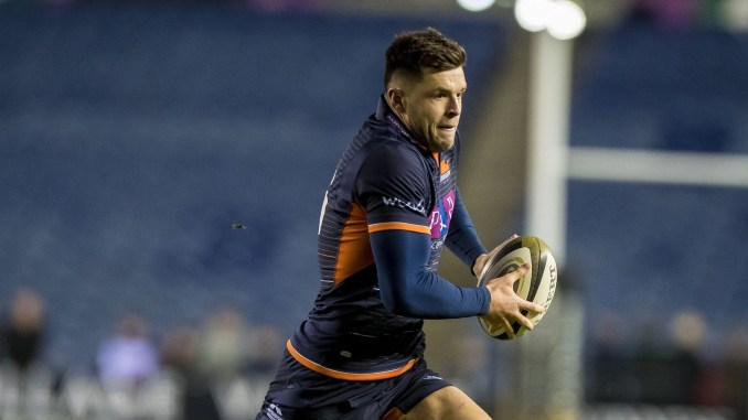 Blair Kinghorn will become the youngest player to make 100 appearances for Edinburgh tomorrow night. Image: ©Craig Watson