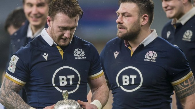 Stuart Hogg and Rory Sutherland will represent Hawick and Scotland on this summer's Lions tour. Image: © Craig Watson - www.craigwatson.co.uk