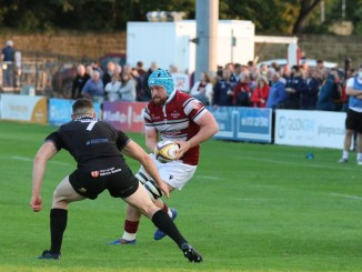 Karl Main on the attack for Watsonians against Southern Knights. Image: Graham Gaw