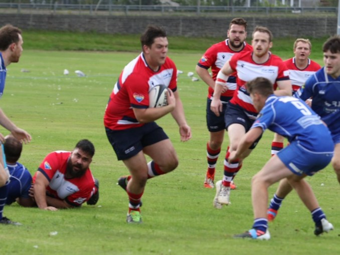 Aberdeen Grammar came up short in a high-scoring match at home to Jed-Forest. Image: Howard Moles