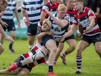 Heriot's edged a narrow win at Stirling County in Super6 round three. Image: © Craig Watson - www.craigwatson.co.uk