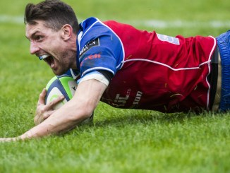Lewis Young sealed the win for Jed-Forest against Musselburgh with this try. Image: Bill McBurnie