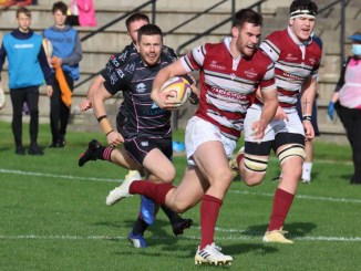 Matt Currie scored a try and was outstanding for Watsonians versus Ayrshire Bulls. Image: Graham Gaw