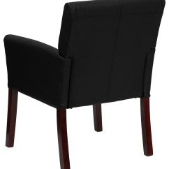Office Chair Leaning To One Side Oak Rocking Uk Black Leather Executive Or Reception With