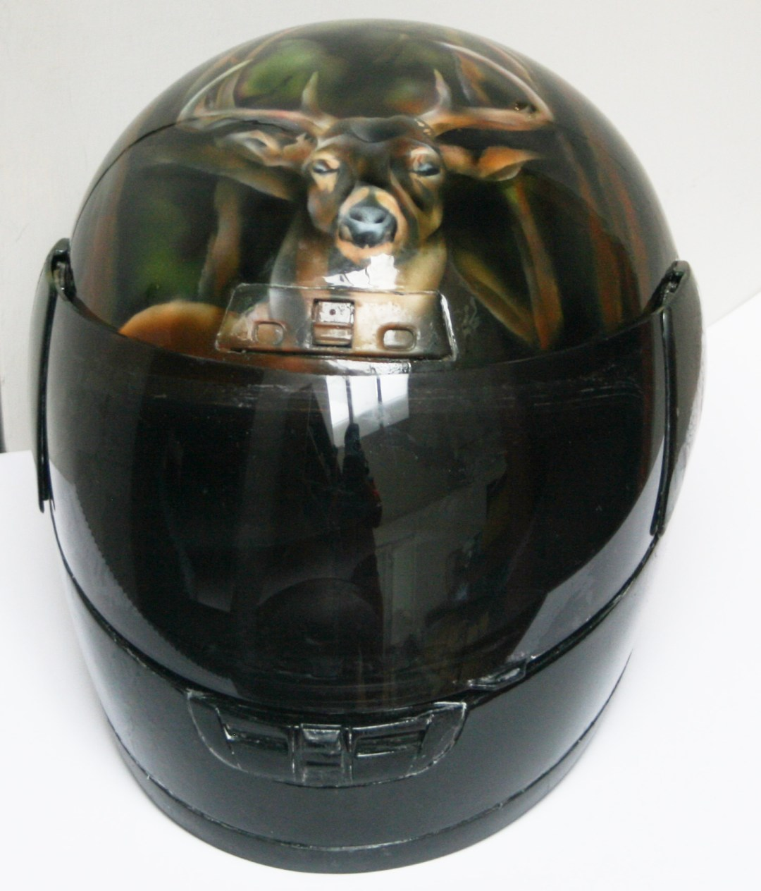 Airbrushed Wildlife Motorcycle Helmet