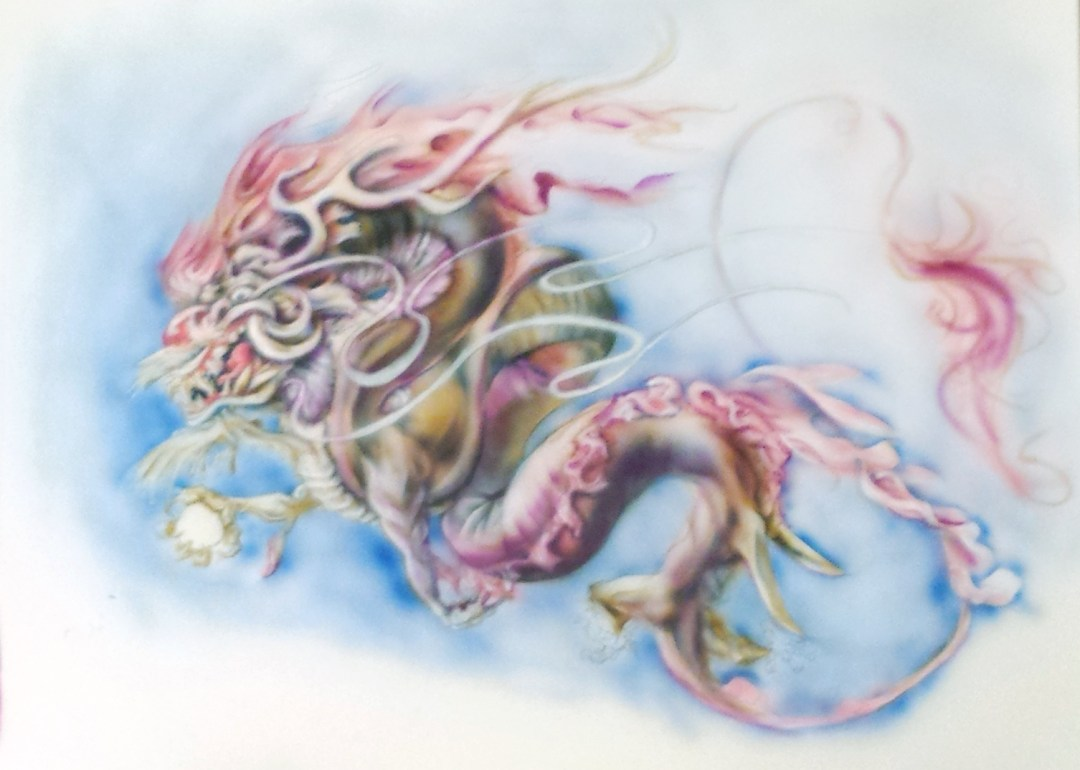 Airbrushed Chinese Dragon