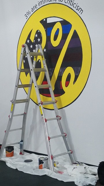 3% Logo Painting nearly Finished