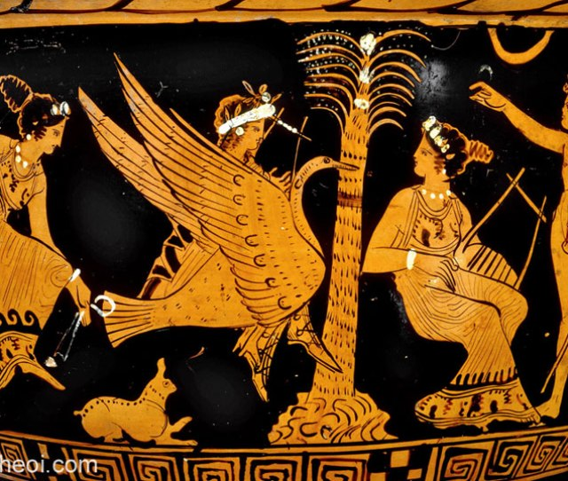 Apollo Marsyas And The Muses Athenian Red Figure Bell Krater C4th B C