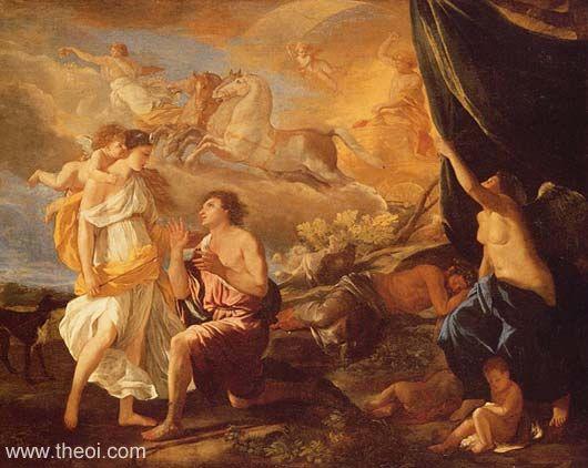Selene & Endymion by Nicolas Poussin