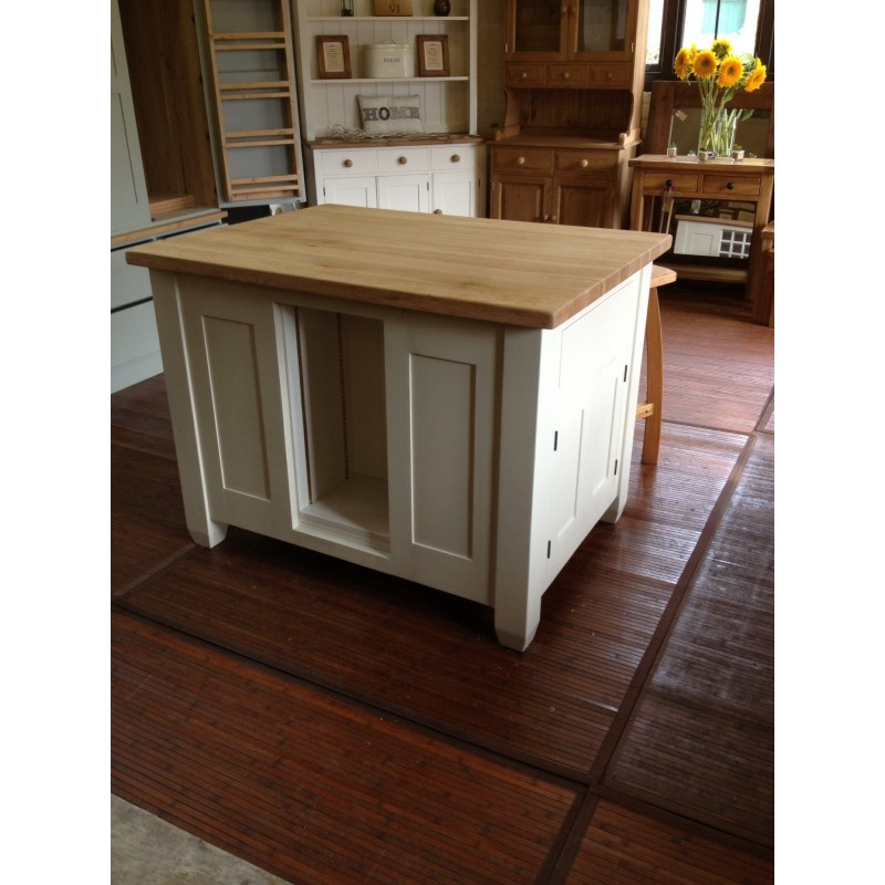 Island Unit With Oak Top