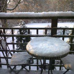 Winter window view