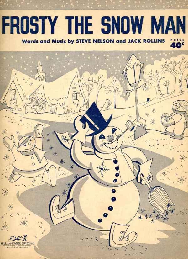 Frosty The Snowman Vintage Sheet Music 1950 Christmas Holidays Steve Nelson Jack Rollins