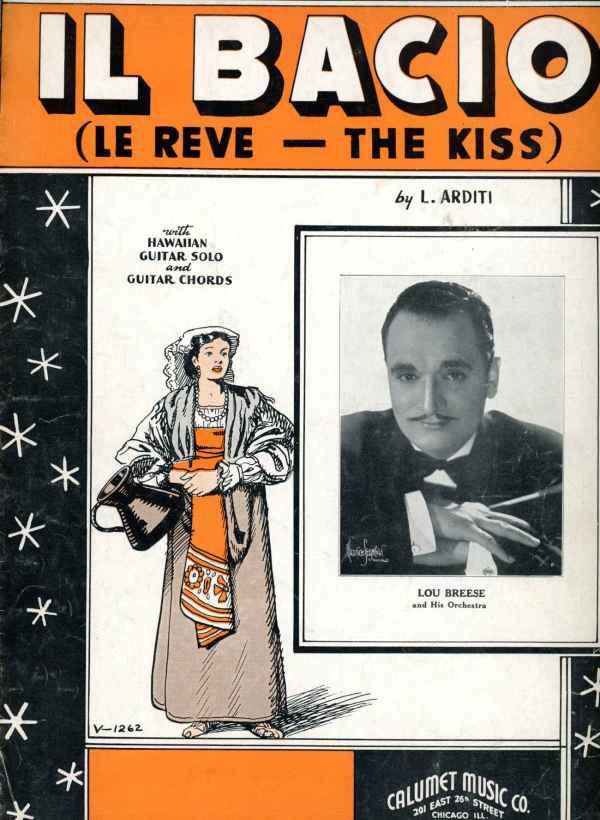 IL Bacio Le Reve The Kiss Sheet Music Vintage 1941 Arditi Hawaiian Guitar Solo Lou Breese Orchestra