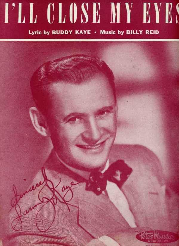 I'll Close My Eyes Sheet Music Vintage 1945 Sammy Kaye Buddy Kaye Billy Reid