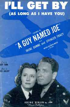 I'll Get By As Long As I Have You Sheet Music Vintage A Guy Named Joe WWII Irene Dunne Spencer Tracy