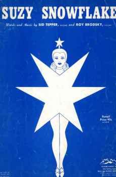 Suzy Snowflake Vintage Sheet Music 1951 Christmas Holidays Sid Tepper Roy Brodsky