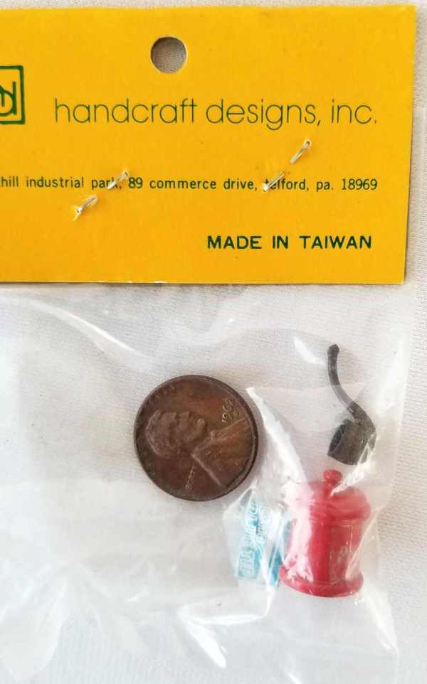 Vintage Tobacco Humidor Pipe Matches Handcraft Designs Inc Dollhouse Miniatures 1:12 Scale