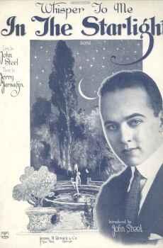 Whisper To Me In The Starlight Vintage Sheet Music 1922 John Steel Jerry Jarnagin Starmer Cover Art