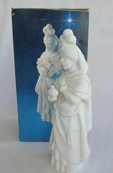 Avon Vintage Christmas Nativity The Magi Kaspar White Porcelain Bisque Figurine