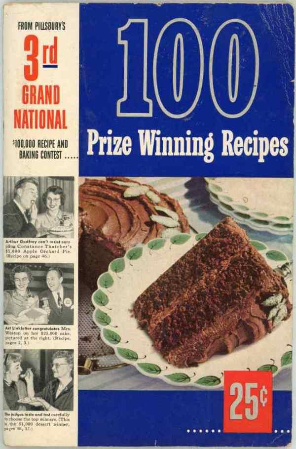 Pillsbury 3rd Bake Off $100,000 Grand National Recipe and Baking Contest Cookbook 1951 100 Recipes