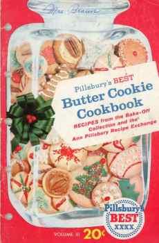 Pillsbury's Best Butter Cookie Cookbook Volume III Vintage Mid Century Recipes 1959