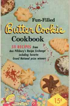Pillsbury's Fun Filled Butter Cookie Cookbook Volume I Vintage Mid Century Recipes 1957