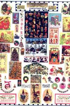 Christmas Signs Page Mini Prints The Picture Show Scaled Miniatures Dollhouse Miniature 1:12 Scale