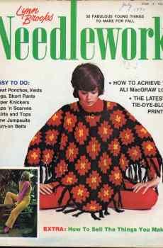 Lynn Brooks Needlework Fall 1971 Retro Mid Century Ponchos Tie-Dye Jumpsuits