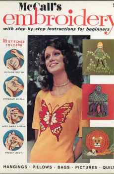 McCall's Embroidery Patterns Projects How To Make 1971 Retro Mid Century Original Designs 65 Stitches
