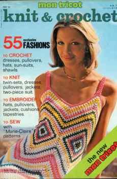 Mon Tricot Knit & Crochet MD 16 1974 Retro Mid Century 55 Original Designs