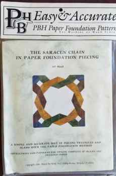 PBH Pieced By Hand The Saracen Chain in Paper Foundation Piecing Quilts Guide Patterns 1996 New