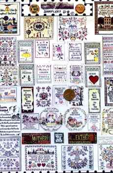 Samplers Page Mini Needlework The Picture Show Scaled Miniatures Dollhouse Miniature 1:12 Scale