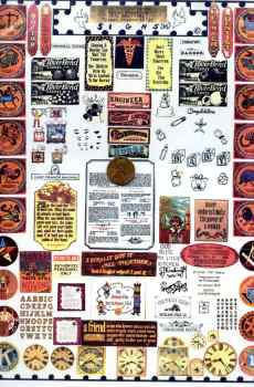 Signs Page Mini Zodiac Clock Sayings Prints The Picture Show Scaled Miniatures Dollhouse Miniature 1:12 Scale