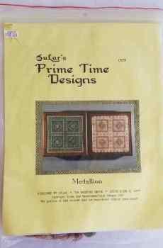 SuLar's Prime Time Designs Medallion Needlepoint Kit Complete Needlework 1990 New