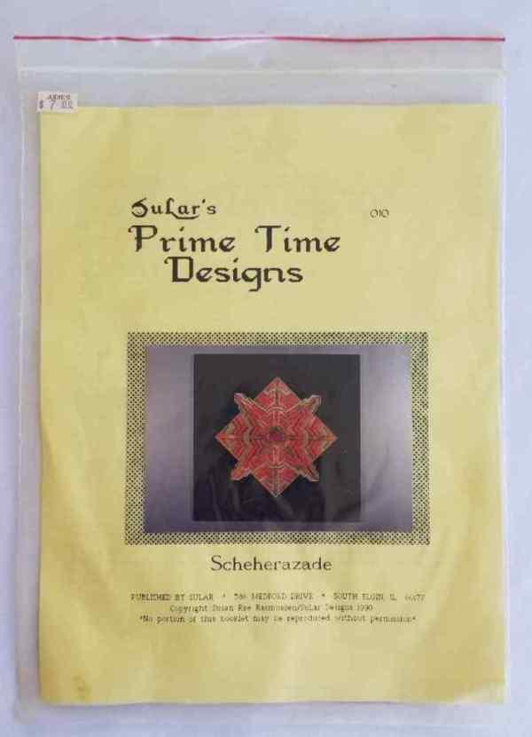 SuLar's Prime Time Designs Scheherazade Needlepoint Stitch Chart Needlework 1990