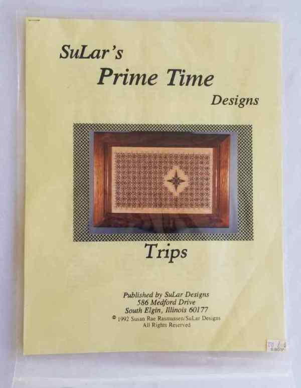 SuLar's Prime Time Designs Trips Needlepoint Stitch Chart Needlework 1992