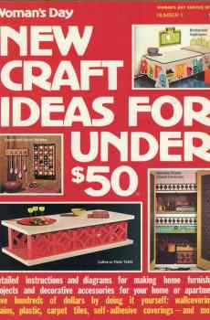 Woman's Day New Craft Ideas For Under $50 Number 1 1972 Vintage Mid Century Home Decor Projects