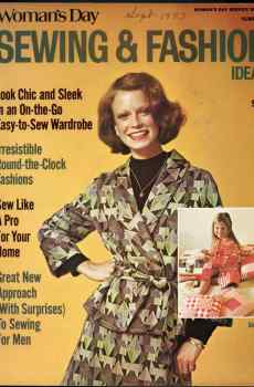 Woman's Day Sewing & Fashion Ideas Number 2 1973 Mid Century Sew Clothes Decor Shelley Hack Cover